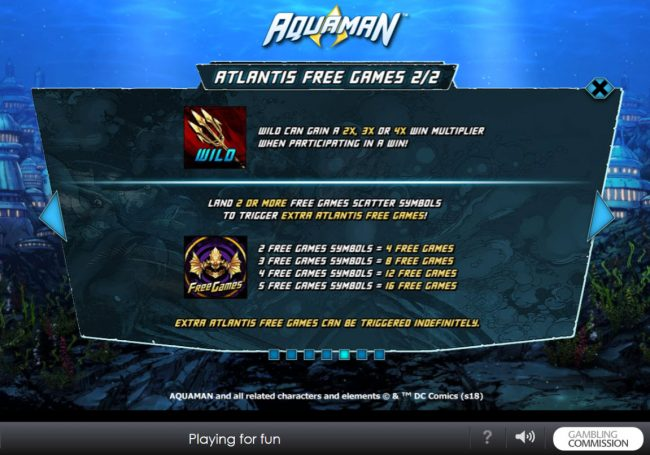 Slots Heaven featuring the Video Slots Aquaman with a maximum payout of $10,000