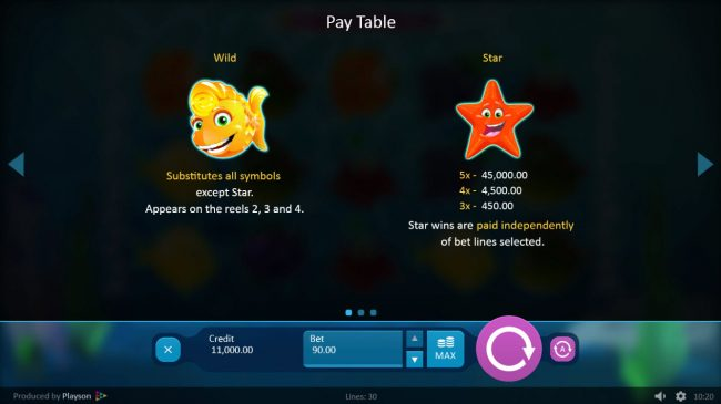 Play slots at Roxy Palace: Roxy Palace featuring the Video Slots Aquarium with a maximum payout of $45,000
