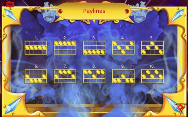 Arabia :: Payline Diagrams 1-10