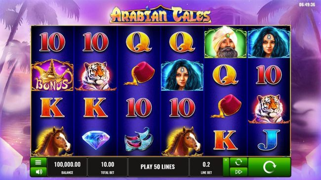 Play slots at Win Monaco: Win Monaco featuring the Video Slots Arabian Tales with a maximum payout of $4,000