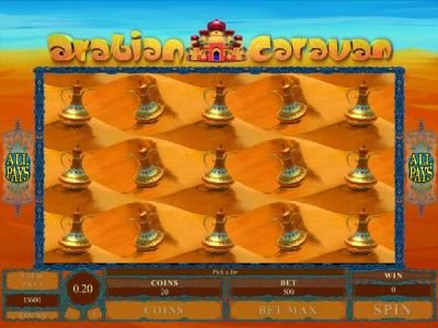 Desert Jars Bonus Feature Game Board
