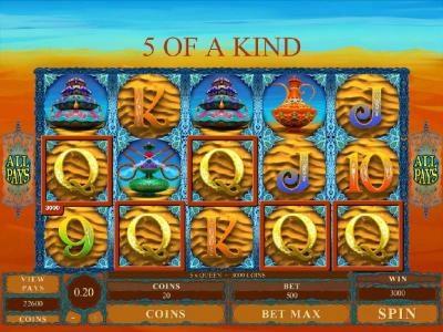 Five of a kind triggers a big win
