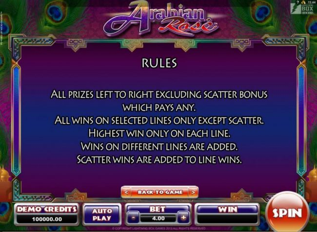 Play slots at Euro Slots: Euro Slots featuring the Video Slots Arabian Rose with a maximum payout of $800
