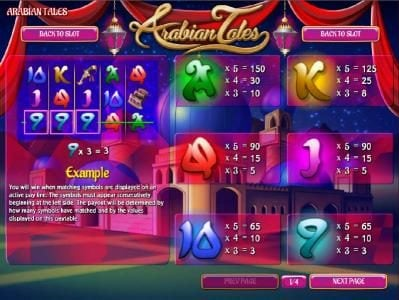 Desert Nights Rival featuring the Video Slots Arabian Tales with a maximum payout of $187,500