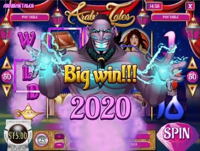Royal Planet featuring the Video Slots Arabian Tales with a maximum payout of $187,500