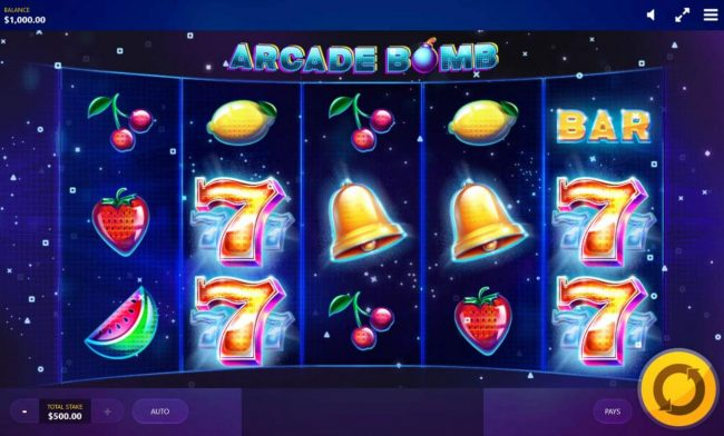 Play slots at Win Windsor: Win Windsor featuring the Video Slots Arcade Bomb with a maximum payout of $25,000