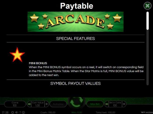 Arcade :: Mini Bonus Rules