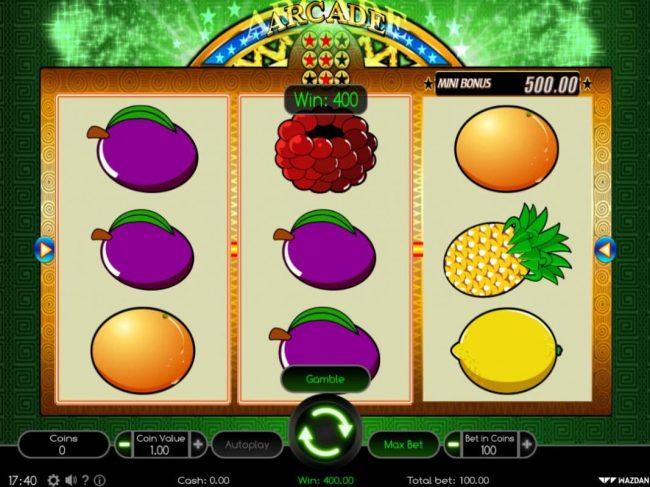 Arcade :: A pair of winning paylines