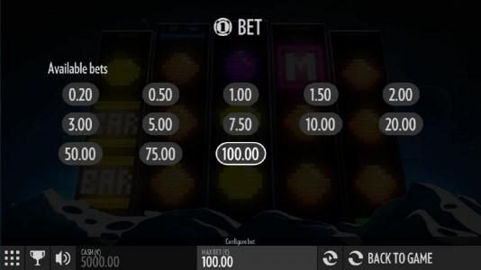 Boaboa featuring the Video Slots Arcader with a maximum payout of $10,800