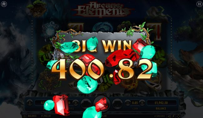 Winward featuring the Video Slots Arcane Elements with a maximum payout of $2,500,000