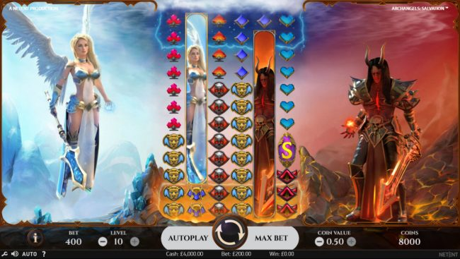 4 Stars featuring the Video Slots Archangels Salvation with a maximum payout of $200,000