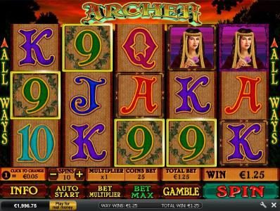 Play slots at Casino Plex: Casino Plex featuring the Video Slots Archer with a maximum payout of $3,750
