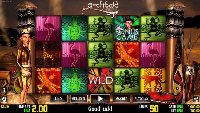 Play slots at Bonanza: Bonanza featuring the Video Slots Archibald Discovering Africa with a maximum payout of $150,000