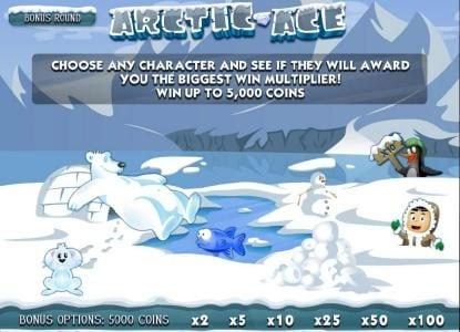 Astralbet featuring the Video Slots Arctic Ace with a maximum payout of $10,000