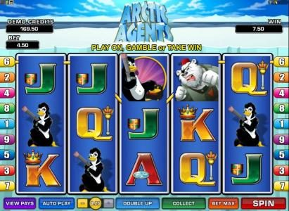 Wixstars featuring the Video Slots Arctic Agents with a maximum payout of $3,000