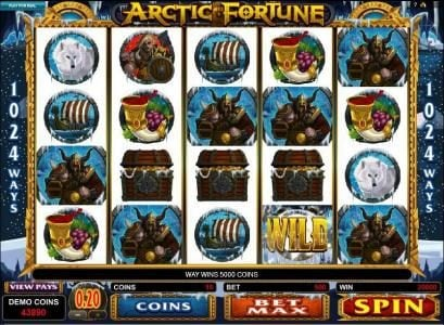21 Jackpots featuring the Video Slots Arctic Fortune with a maximum payout of $3,000