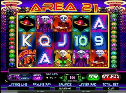Play slots at Slots Magic: Slots Magic featuring the Video Slots Area 21 with a maximum payout of $80,000