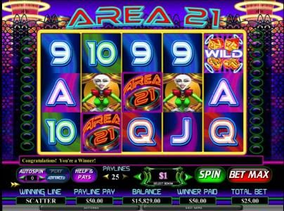 Karamba featuring the Video Slots Area 21 with a maximum payout of $80,000