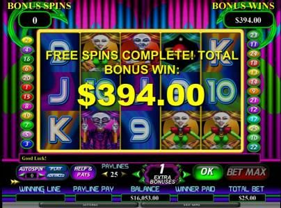 Vegas Winner featuring the Video Slots Area 21 with a maximum payout of $80,000