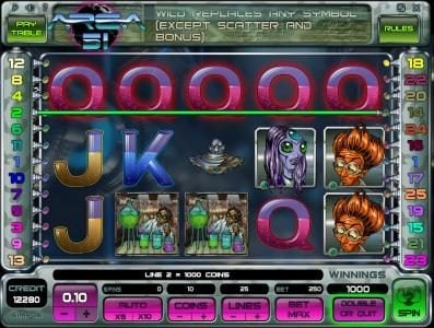 Play slots at Jaak Casino: Jaak Casino featuring the Video Slots Area 51 with a maximum payout of $10,000