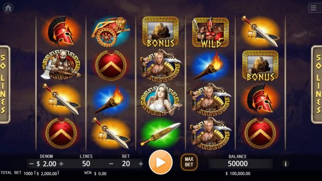 Play slots at Casino Marriott: Casino Marriott featuring the Video Slots Ares God of War with a maximum payout of $800,000