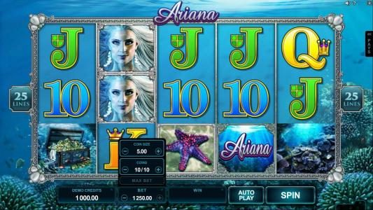 Wixstars featuring the Video Slots Ariana with a maximum payout of $300,000