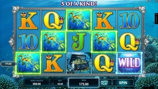 King Neptunes featuring the Video Slots Ariana with a maximum payout of $300,000
