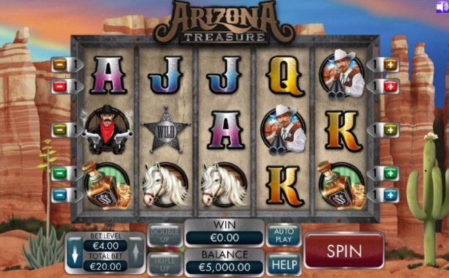 Play slots at Fluffy Spins: Fluffy Spins featuring the Video Slots Arizona Treasure with a maximum payout of $4,000