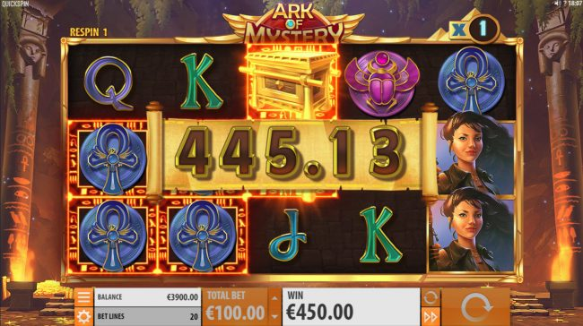 King Billy featuring the Video Slots Ark of Mystery with a maximum payout of $100,000