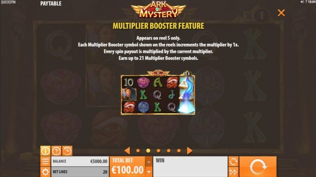 Trada featuring the Video Slots Ark of Mystery with a maximum payout of $100,000