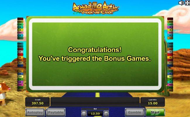 Bonus game triggered