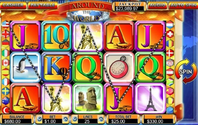 Drake featuring the Video Slots Around the World with a maximum payout of $50,000