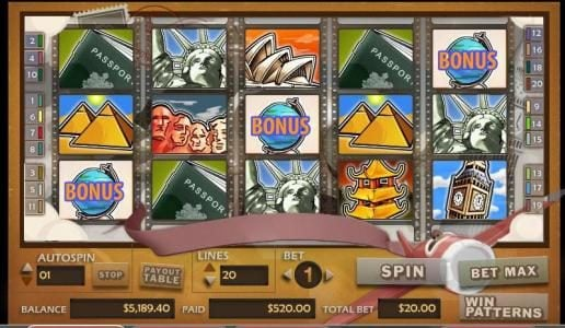 Dream Vegas featuring the video-Slots Around the World with a maximum payout of 30,000x
