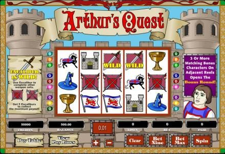 Play slots at Lightbet: Lightbet featuring the Video Slots Arthur's Quest with a maximum payout of $62,500