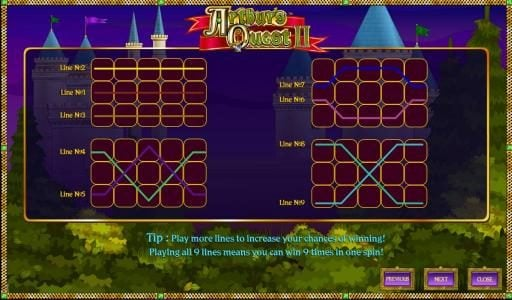 Buran featuring the Video Slots Arthur's Quest II with a maximum payout of $12,500