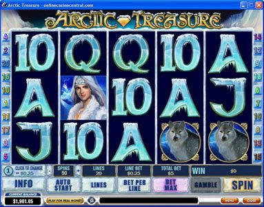 Play slots at Palace VIP: Palace VIP featuring the Video Slots Arctic Treasure with a maximum payout of $50,000