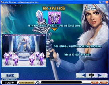 Play slots at Pamper: Pamper featuring the Video Slots Arctic Treasure with a maximum payout of $50,000