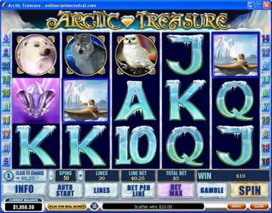 Grand Reef featuring the Video Slots Arctic Treasure with a maximum payout of $50,000