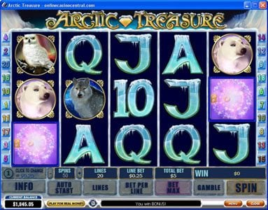 Play slots at Class 1 Casino: Class 1 Casino featuring the Video Slots Arctic Treasure with a maximum payout of $50,000