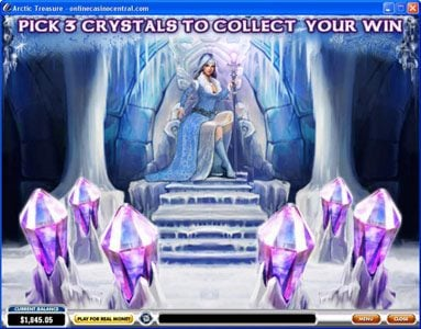 Money Storm featuring the Video Slots Arctic Treasure with a maximum payout of $50,000