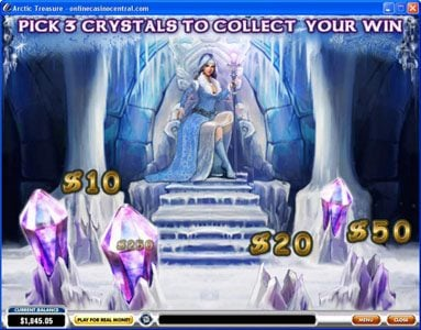 Titanbet.it featuring the Video Slots Arctic Treasure with a maximum payout of $50,000