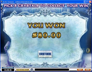Crown Europe featuring the Video Slots Arctic Treasure with a maximum payout of $50,000