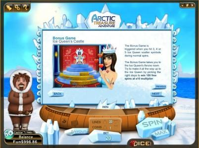 ice queen's bone game rules and paytable