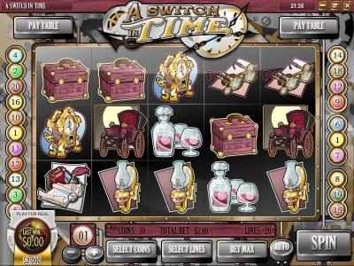 Play slots at Bella Vegas: Bella Vegas featuring the Video Slots A Switch In Time with a maximum payout of $16,972.50