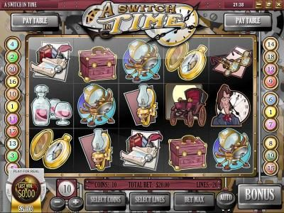 Mayan Fortune featuring the Video Slots A Switch In Time with a maximum payout of $16,972.50