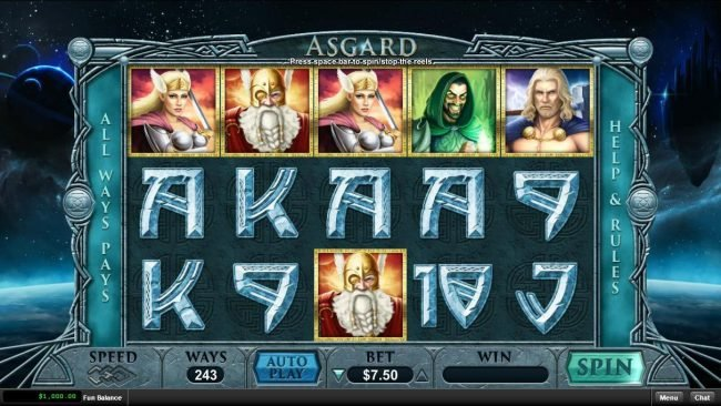 Play slots at 99 Slot Machines: 99 Slot Machines featuring the Video Slots Asgard with a maximum payout of $15,000