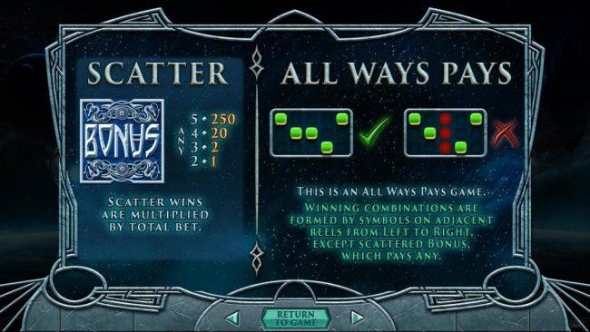 Asgard :: Scatter Symbol Rules
