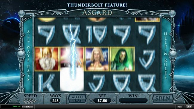 Bovada featuring the Video Slots Asgard with a maximum payout of $15,000