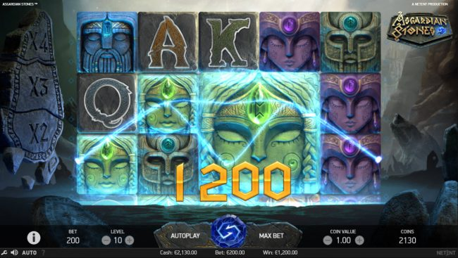 Fun Casino featuring the Video Slots Asgardian Stones with a maximum payout of $100,000