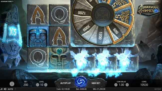 Winzino featuring the Video Slots Asgardian Stones with a maximum payout of $100,000
